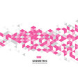 abstract pink geometric background with polygonal vector image