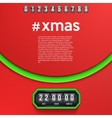 Background Merry Christmas Coming Soon and vector image