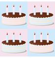 Birthday cakes vector image