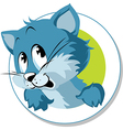 blue cat vector image