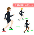 business woman running to the top vector image