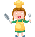 Cute Female Chef vector image