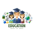 education schooling logo design template vector image