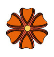 flower natural plant decoration beautiful icon vector image