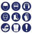 Health safety icons vector image