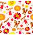 kids drawing seamless pattern vector image