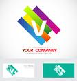 Letter V colors logo vector image