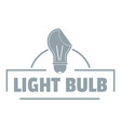 light idea logo simple gray style vector image