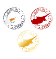 made in Cyprus stamp vector image
