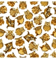 Owl and owlet birds seamless pattern vector image