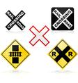 Railroad crossing vector image
