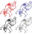 Vetctor collection of judo for cutting vector image