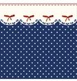Vintage Blue Polka-dot Dress Printable Background vector image