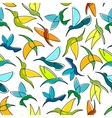 Flying hummingbird birds seamless pattern vector image vector image