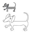 Dog Dachshund coloring vector image