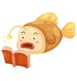 fish open book vector image