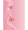 vertical background with butterfly vector image