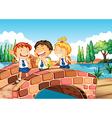 Children going to school vector image vector image