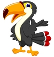 Cute toucan cartoon presenting vector image vector image