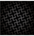 Black and white carbon texture background vector image
