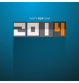 Happy New Year 2014 Title on Blue Background vector image