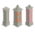 Gate pillars isometric vector image