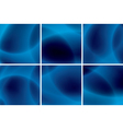 set of abstract blue neon backgrounds vector image vector image
