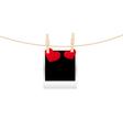 hearts clothespins 08 vector image