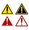warning attention signs vector image vector image