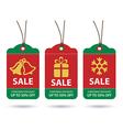 christmas sale tags flat design vector image