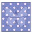 Baby-shower-butterfly-blue-polka-dot-2 vector image