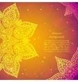 Golden ethnic indian background vector image vector image