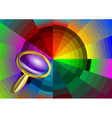 color circle and magnifier vector image