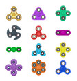 group fidget spinner stress relieving toy colorful vector image