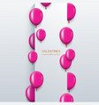modern pink balloons background for happy vector image