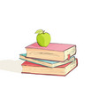 several bright books on a white background vector image