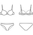 Underwear vector image vector image