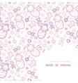 Baby girls corner frame pattern background vector image