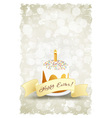 Grungy Easter Background with Decorated Cake vector image