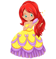 A princess combing her hair vector image