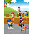 Children and playground vector image
