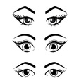 Woman eyes collection vector image vector image