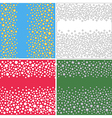 Seamless scattered textures set vector image vector image