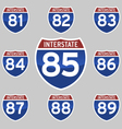 INTERSTATE SIGNS 81-89 vector image