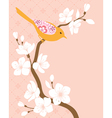 Blossom cherry branch 2 vector image vector image