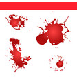 blood splatter paint splash vector image