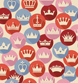 seamless abctract crowns pattern vector image