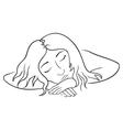 sleeping woman vector image