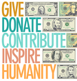 A design to inspire charitable giving vector image