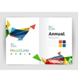 Triangles and lines annual report flyer brochure vector image